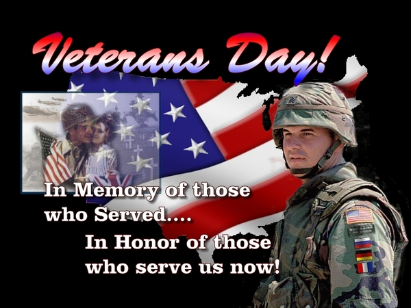 Veterans Day In memory of those who served