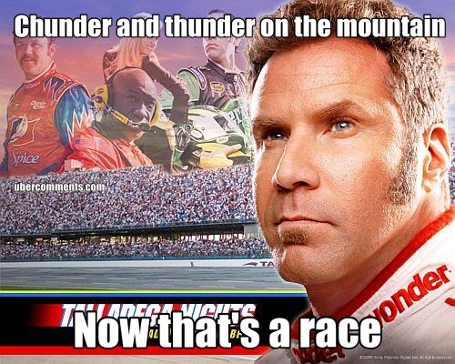 Chunder and thunder on the mountain Now that's a race