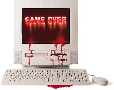 game over bloody computer