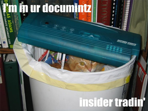 im in your documents insider trading