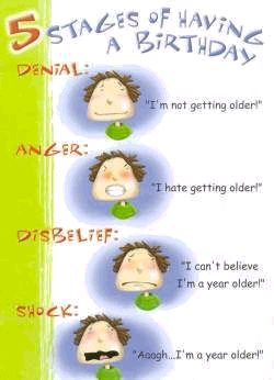 5 stages of having a birthday