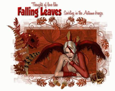 Thoughts of love like falling leaves swirling in the autumn breeze