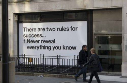 two rules for success