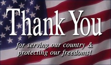 Thank you for serving our country and protecting our freedoms
