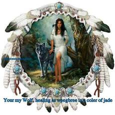 Your my Wolf, healing as weegbree in a coler of jade