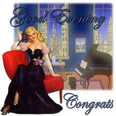 good evening congrats