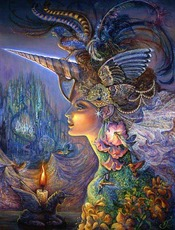 colorful fantasy woman