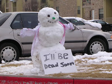 snowman will be dead soon