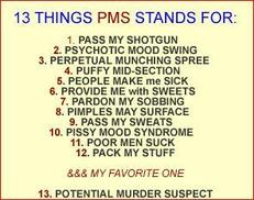 13 things pms stands for