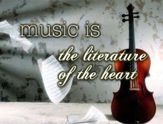 music is the literature of the heart