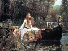lady in canoe