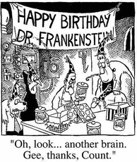 happy birthday dr frankenstein another brain