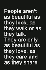 people aren't as beautiful as they look