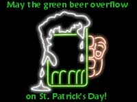 may the green overflow on st patricks day