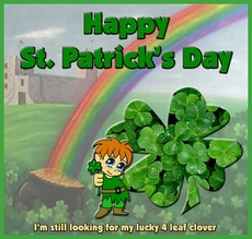 happy st patricks day 4 leaf clover