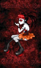 thanks for the add cutie pie gothic girl
