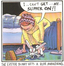 easter bunny is not a slipper