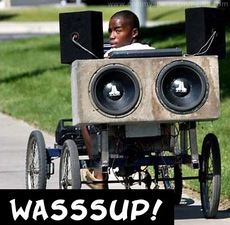 wassup wheelchair with speakers