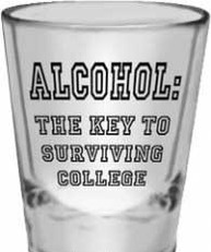 alcohol the key to surviving college