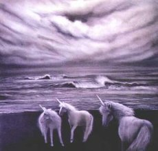 unicorns by ocean