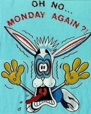 oh no monday again rabbit