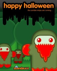 happy halloween the zombie ninjas are coming