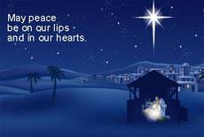 May peace be on our lips and in our hearts