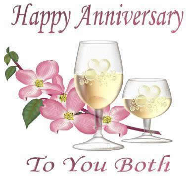 happy annivery to both  of you 