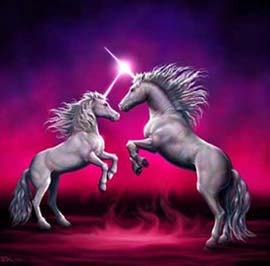 unicorns fighting