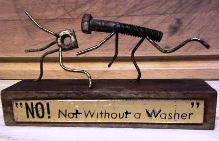 No! not without a washer