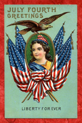 July fourth greetings - Liberty Forever