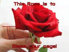 This Rose is to Bless your page!