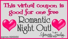 romantic night out coupon
