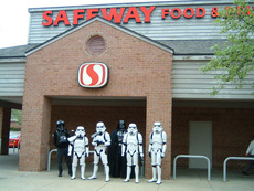 star wars storm troopers at grocery store