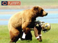 bear humping football player
