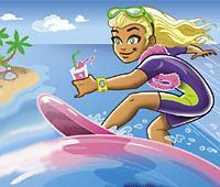 girl surfer