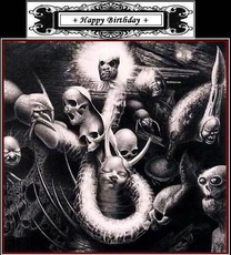 happy birthday skulls