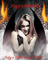 happy birthday take a bite out of life sexy vampire