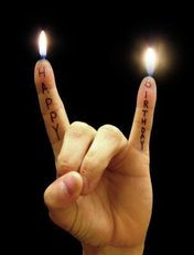 happy birthday metal fingers