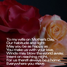to my wife on mothers day