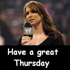 have a great thursday stephanie mcmann wwe