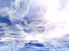 angel wings in sky