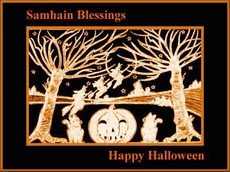 samhain blessings happy halloween