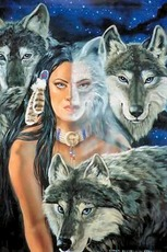 native american-wolf