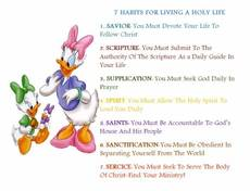 7 habits for living a holy life