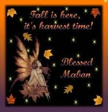 Fall is here, it's harvest time! Blessed Mabon