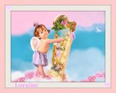 baby angel plays the harp