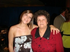 My 24 year old beautiful grand-daughter and me.